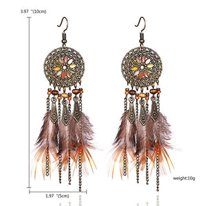 Tassel Dangle Long Earrings