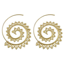 Load image into Gallery viewer, Round Spiral Earrings