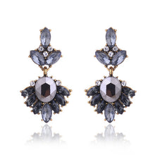 Load image into Gallery viewer, Antique Golden Rhinestone Earrings