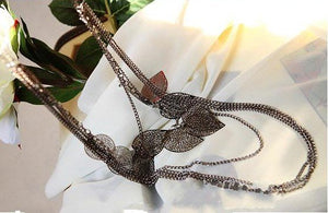 Light Leaf Multi-Layer Necklace