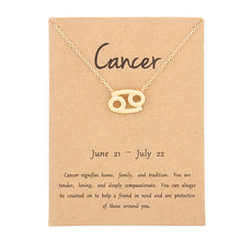Load image into Gallery viewer, Necklace Zodiac Sign Pendant