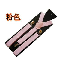 Load image into Gallery viewer, Vintage Mens Elastic Leather Suspenders