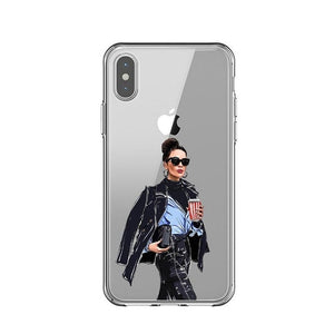 Female Boss Soft Silicone Phone Case