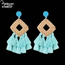 Load image into Gallery viewer, Ethnic Large Tassel Earrings