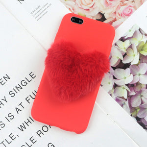 Furry Love Hearts Phone Case