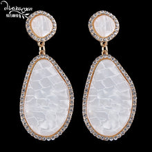 Load image into Gallery viewer, White Big Earrings