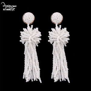 White Big Earrings