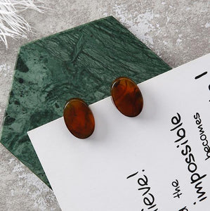 Marble Texture Earrings