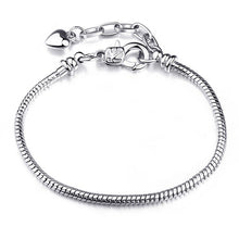 Load image into Gallery viewer, Silver Plated Snake Chain  Bracelet & Bangle