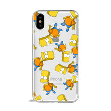 Load image into Gallery viewer, Funny Bart Simpson Cartoon Phone Case