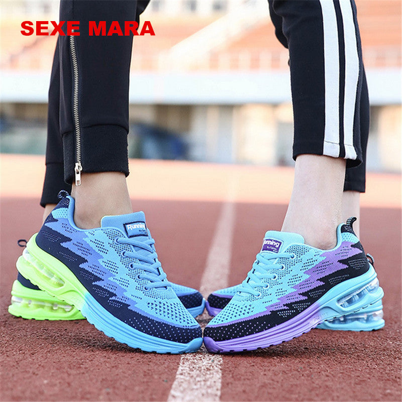 2017 Sneakers shoes women Sports Shoes air cushion Size 35-44 Summer Outdoor Running Shoes for women Flywire Trainers Jogging Q0
