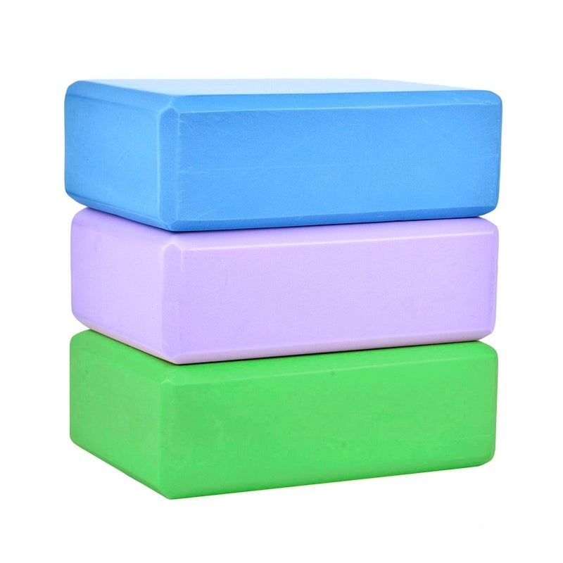EVA Yoga Block Brick Home Exercise Pilates Gym Foam Workout Sports Stretching Aid Body Shaping Health Training Fitness Equipment