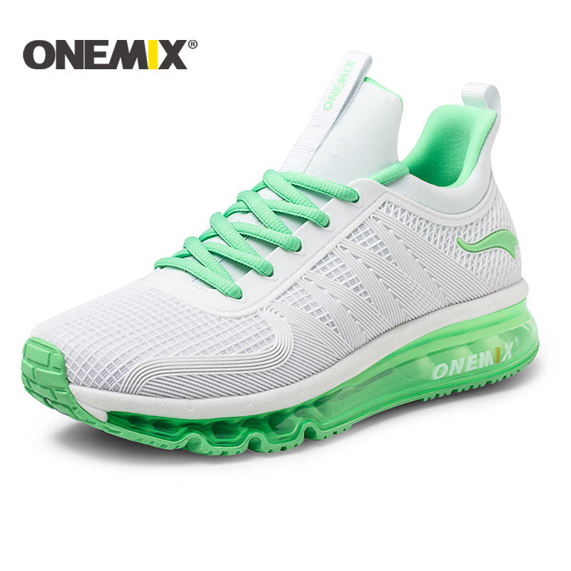 ONEMIX 2017 running shoes for women air cushion high top shock absorption sports sneaker light outdoor walking jogging shoes men