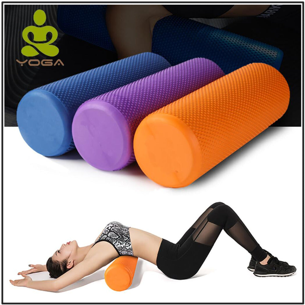 60*15CM Yoga Fitness EVA Foam Roller Blocks Pilates Fitness for Home Gym Exercises Physio Massage Equipment