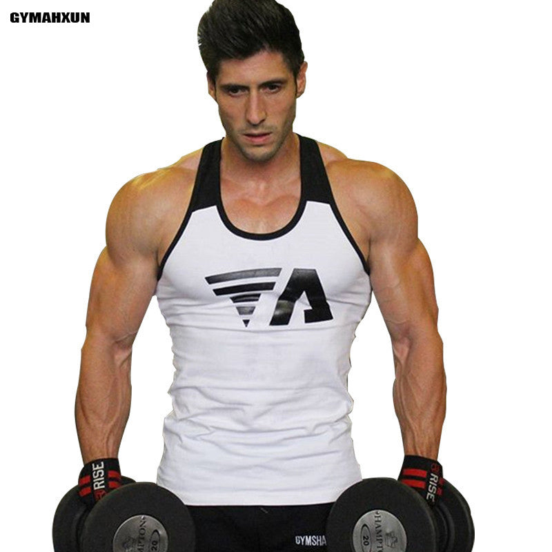 Tank Top Men Bodybuilding Clothing and Fitness Splice Mens gyms Sleeveless Shirt fitness Cotton Muscle Sweatshirt Vests Tops