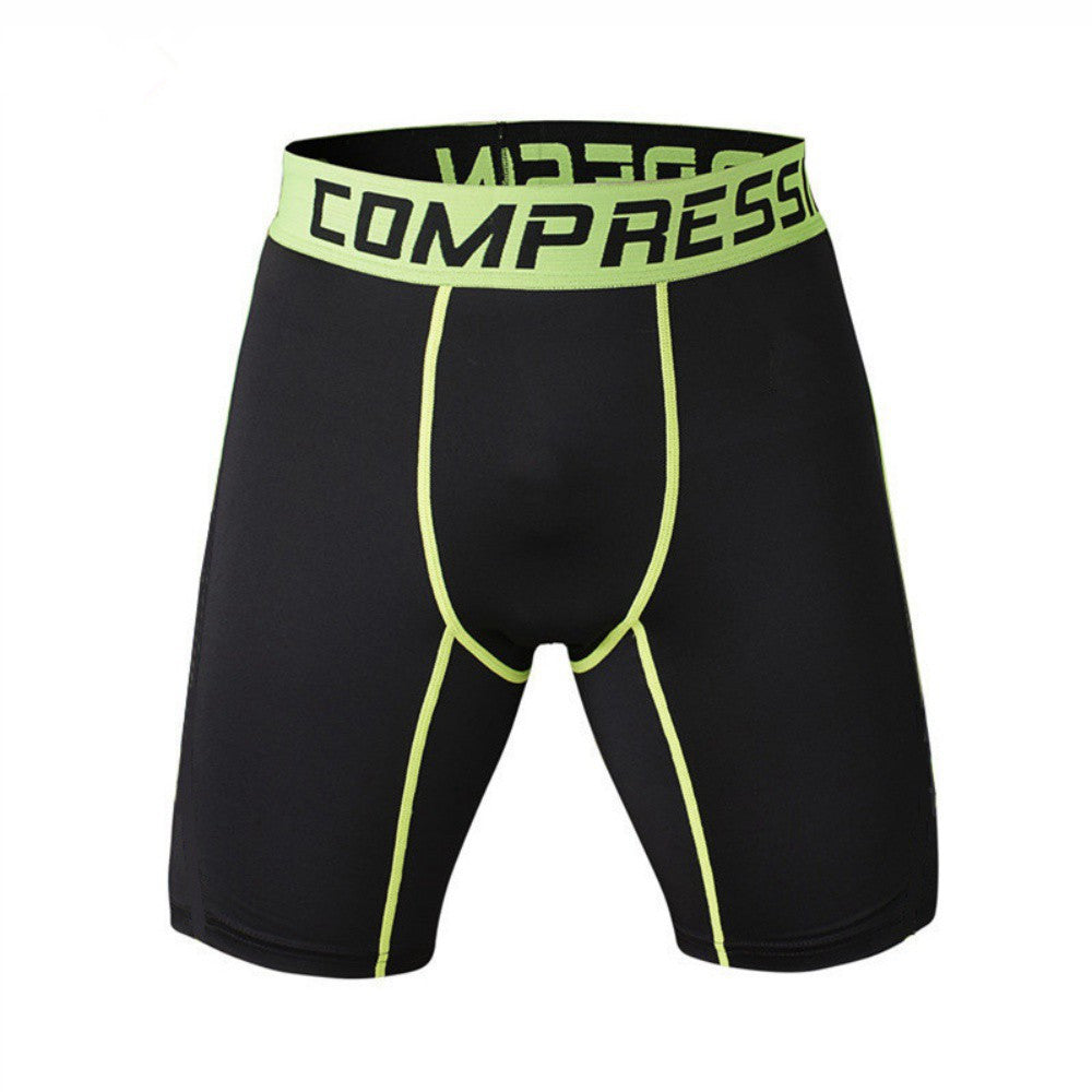 Men  Quick-drying Shorts Running Basketball Riding Jogging Fitness Leggings Short Pants Gym Clothing Male Compression Tight