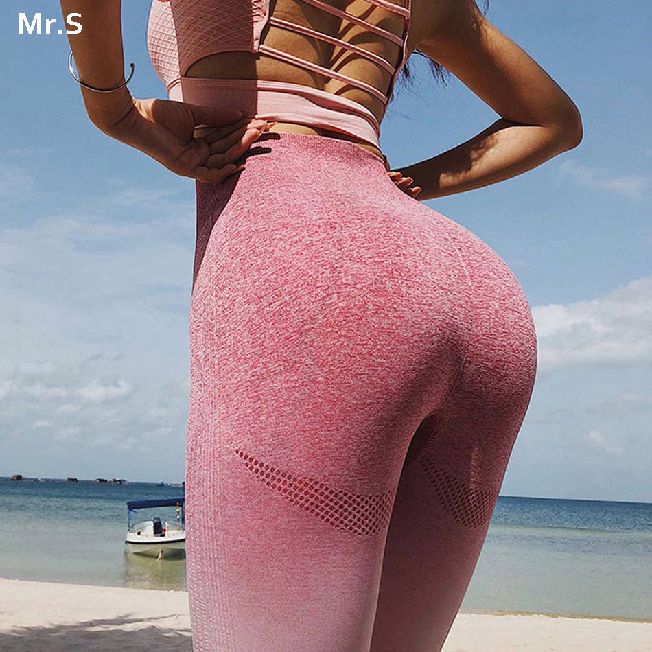 Energy Seamless Leggings High Waist Ombre Yoga Pants Workout Gym Leggings Scrunch Butt leggings Gradient Sport Yoga Leggings