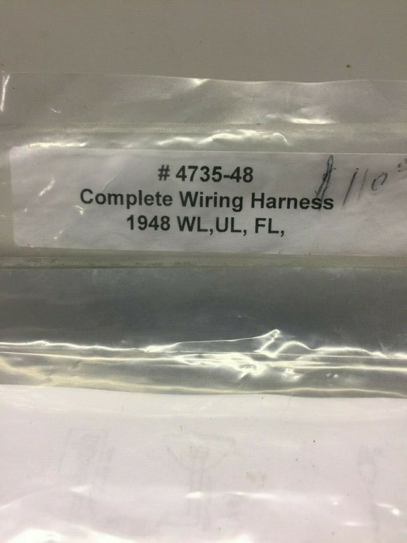 Harley Davidson 4735-48 1948 Only WL, UL, FL Wiring Harness Made in USA