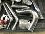 Huge Mixed Lot Harley Exhaust Pipe Header Heat Shield Guards Chrome Chopper OEM