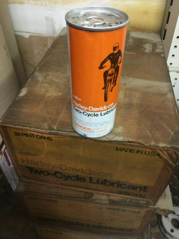 Vintage Harley-Davidson Two-Cycle Lubricant Pint Can - AMF - Motor Oil