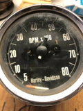 PARTS Vintage HARLEY DAVIDSON FX XL Ironhead 8K  Tachometer Veglia Made in Italy