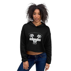 Womens Crop Hoodie Logo on Front
