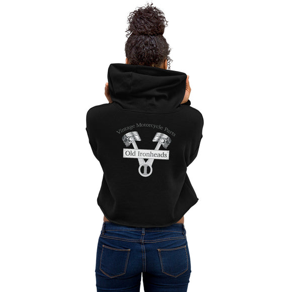 Womens Crop Hoodie Logo on Back
