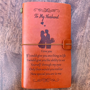 "The Vintage ""See Yourself Through My Eyes"" Husband Journal"