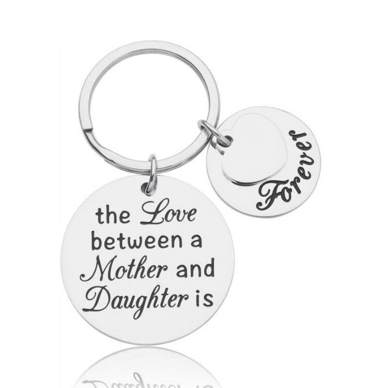 Mother & Daughter Love Keychain