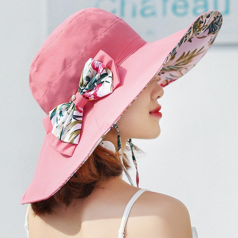 Floral Reversible Floppy Summer Hat for Women