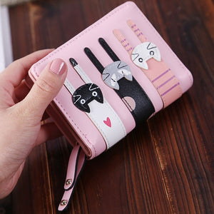 Triple Kitten Wallet