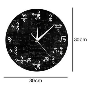 All 9s Mathematics Wall Clock