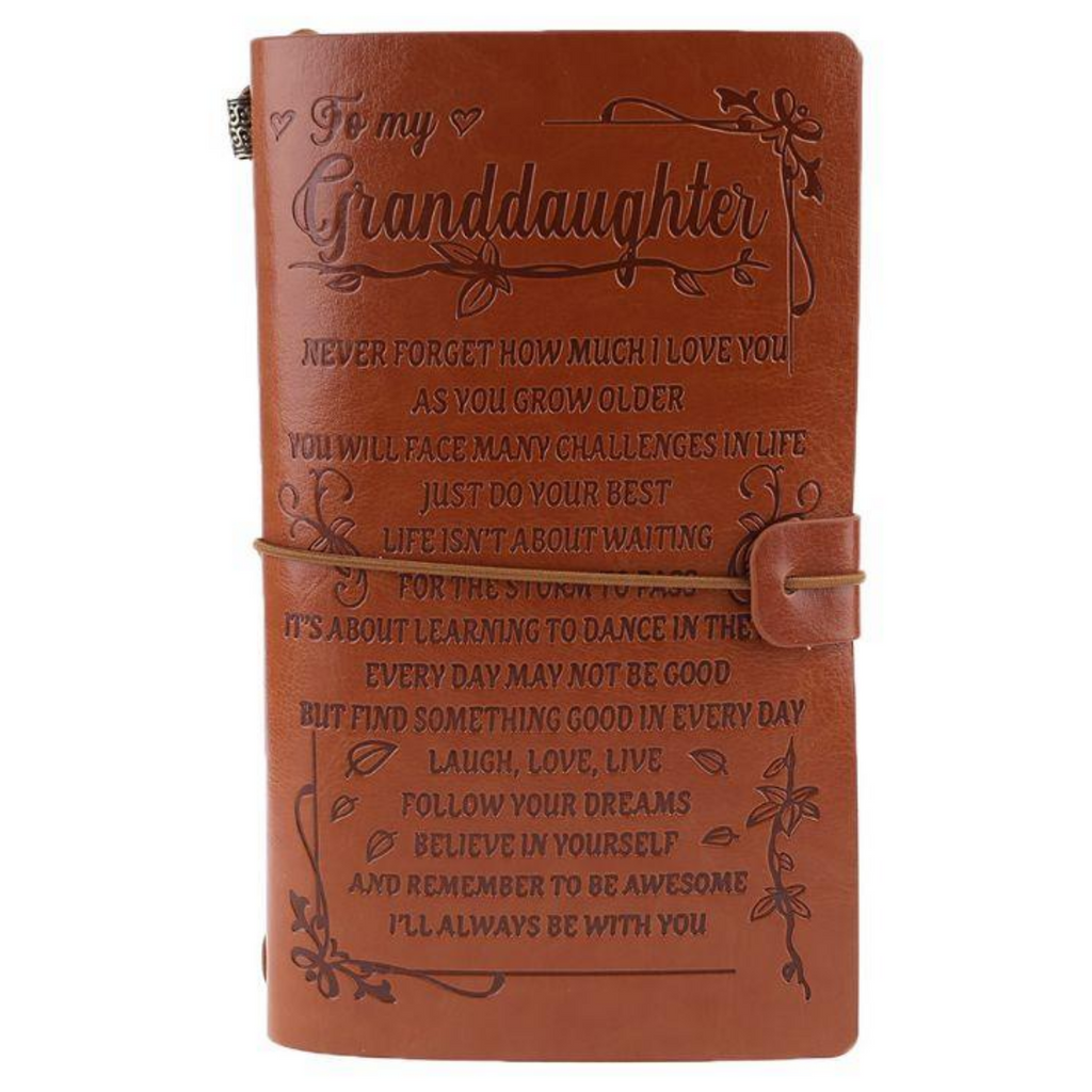 "The Vintage ""Never Forget How Much I Love You"" Grandchild Journal"