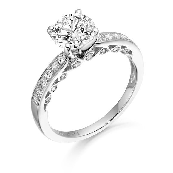 9ct White Gold Cz L'Mour Ring R306W
