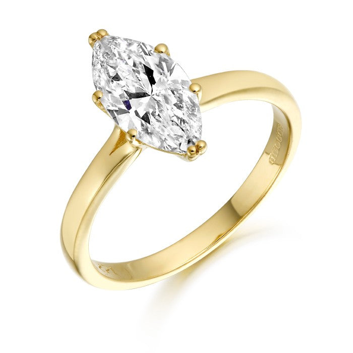 9ct Gold Cz Marquee Ring R135