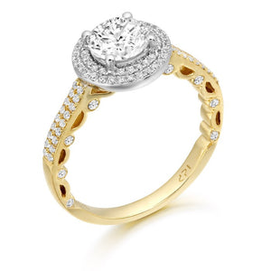 9ct Yellow Gold Cz Affect Ring R316