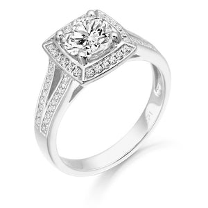 9ct White Gold CZ Anna Ring R323W