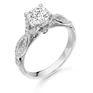 9ct WHite Gold CZ Infinity Ring R322W