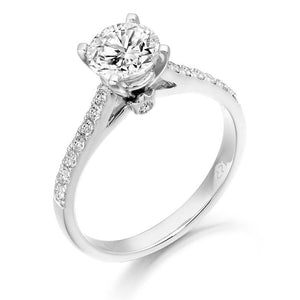 9ct White Gold Cz Aura Ring R321W