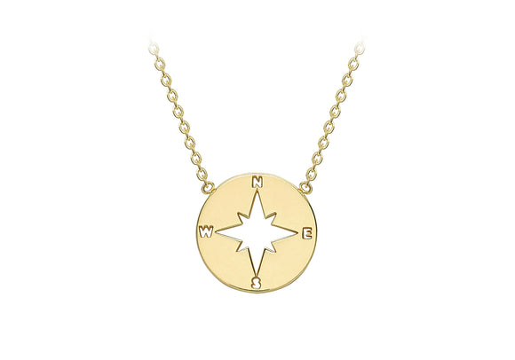9ct Yellow Gold Compass Necklace 1.19.8200