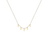 9ct Yellow Gold 5-Oval Drop Adjustable Necklace 1.19.9060