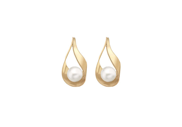 9ct Yellow Gold Pearl Stud Earring 1.59.1289