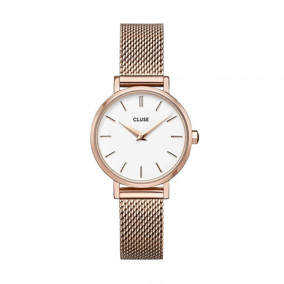 Cluse Boho Chic Petite Rose Gold Plated Mesh Strap Ladies Watch