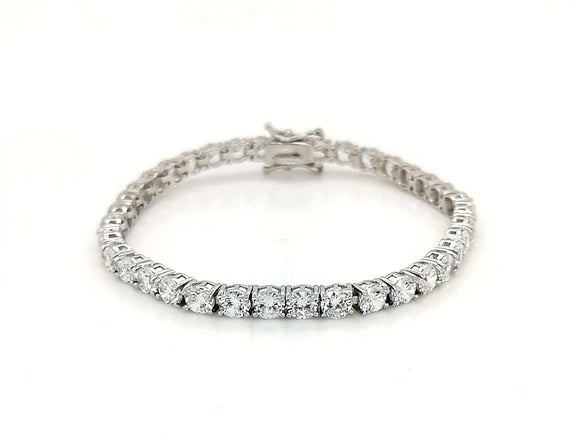 4mm Sterling Silver Rhodium Plated Tennis Bracelet