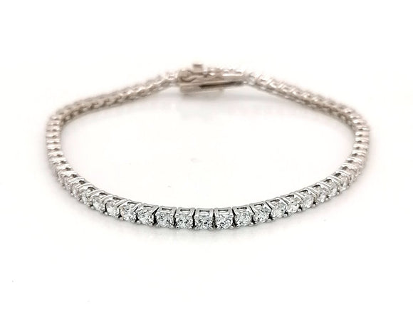 2mm Rhodium Plated Tennis Bracelet