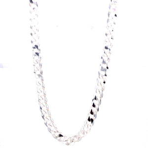 "Sterling Silver 22"" Curb Men's Chain"