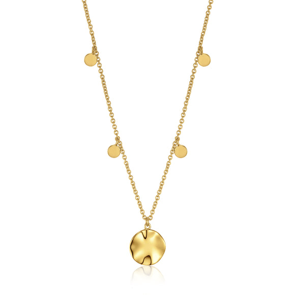 Ania Haie Texture Mix Chain Pendant Gold