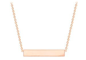 9ct Rose Gold Horizontal Bar Pendant 5.19.5940