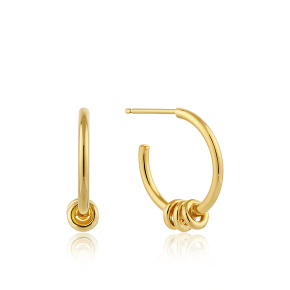 Ania Haie Modern Minimalism Hoop Earrings Gold