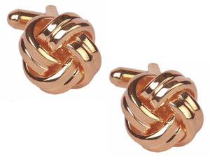 Rose Gold Knots Cufflinks 90-1536